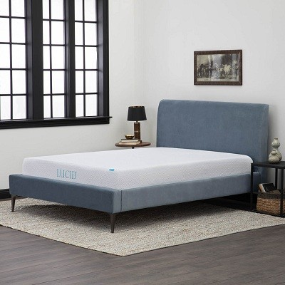 LUCID 10 inch Queen size Gel Memory Foam Mattress 1d7c78da cc70 433b a50a 68da68956347 - Best Mattress Under 300 Dollars